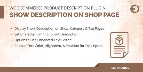 Product Description WooCommerce Plugin
