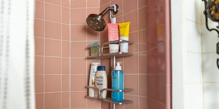 Want an Uncluttered Bathroom – Install a Corner Shower Caddy